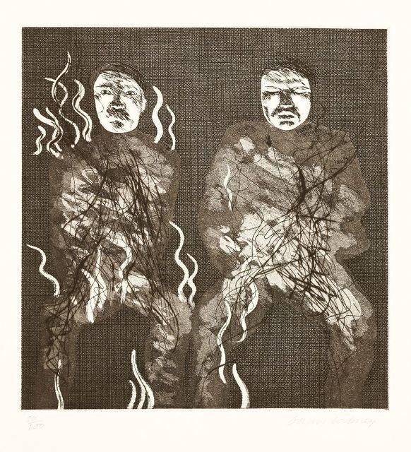 David Hockney, 'CORPSE ON FIRE (TOKYO 88)', 1969, Sworders
