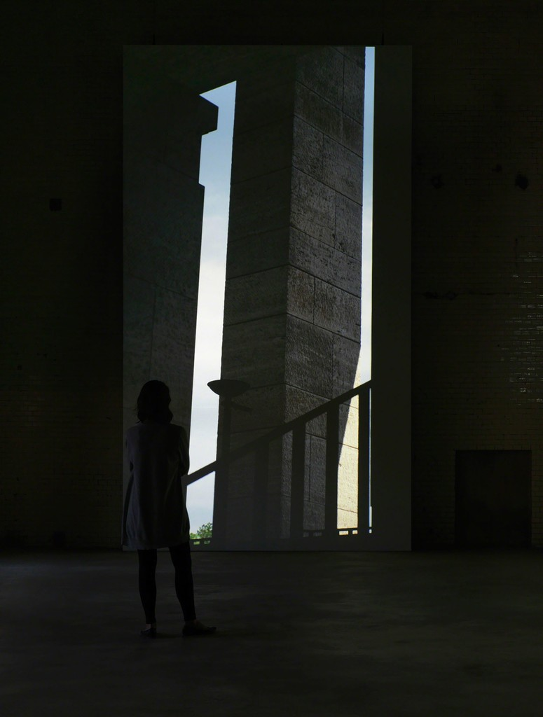 David Claerbout , Olympia, 2016 Real-time projection at KINDL's Kesselhaus (Boiler House) Photo: Jens Ziehe, Berlin, 2016 (c) David Claerbout / VG BILD-KUNST, Bonn, 2016