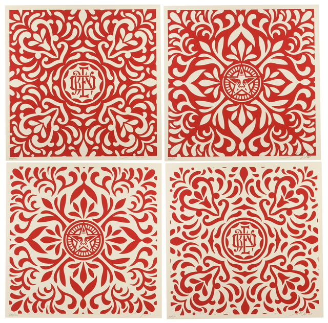 Shepard Fairey, 'Japanese Fabric Pattern Set (a set of four)', 2009, John Moran Auctioneers
