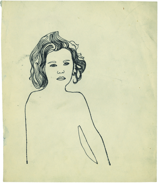 Andy Warhol, 'Serious Girl', 1954, New York Academy of Art
