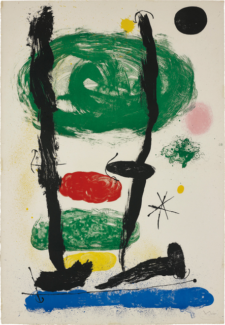Joan Miró, 'Les Guetteurs (The Watchers); and Batteuse Paysage Champagne', 1964; and 1954, Phillips
