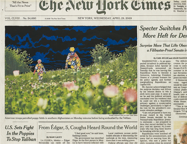 Fred Tomaselli, 'Apr. 29, 2009', 2010, Phillips