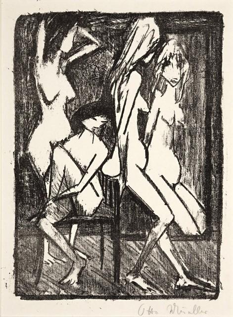 , 'Drei Mädchen vor dem Spiegel,' ca. 1922, Galerie Thomas