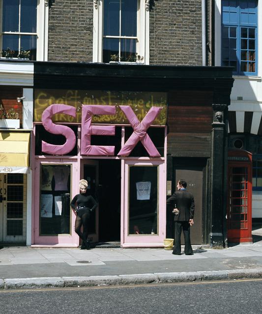 , 'Jordan in the 'SEX' doorway (with man watching),' , ElliottHalls