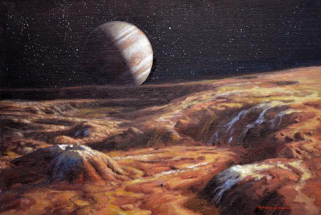 , 'Jupiter from Io,' 2016, IX Gallery
