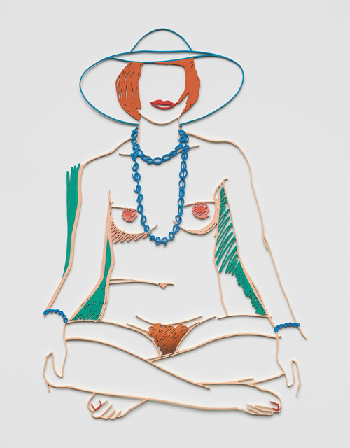 Tom Wesselmann, 'Monica Cross Legged with Beads', 2004, Sculpture, Alkyd on cut-out steel, Cristea Roberts Gallery