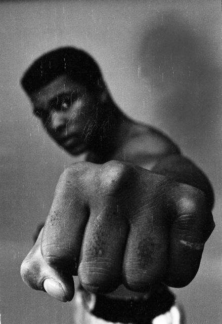 Thomas Hoepker, 'Ali left fist, London', 1966, Photography, Baryta Print, Bildhalle