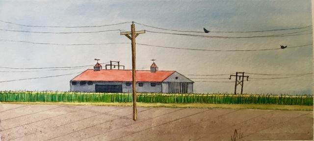 , 'Neighbor's Farm, Garden City, Kansas,' 2017, Flow 305