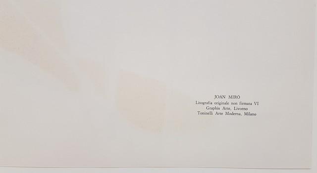 Joan Miró, 'Litografia Originale VI', 1972, Print, Color Lithograph, Cerbera Gallery