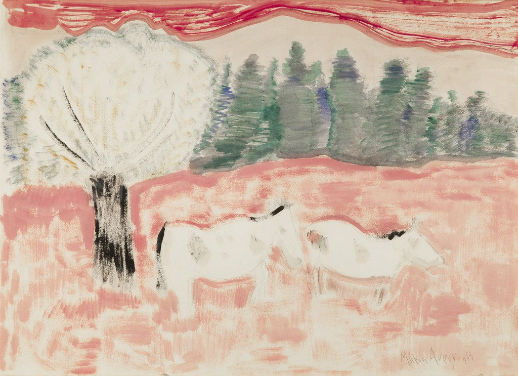 Horses in a Landscape 1963 Oil on paper