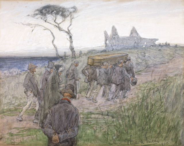 , 'A Funeral Procession,' 1900, National Gallery of Ireland