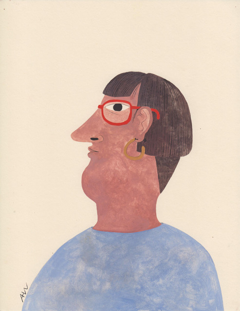 , 'Portrait with Glasses,' 2017, HARPY