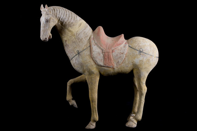 , 'Magnificent Prancing Horse - Tang Dynasty - TL Tested,' 618-907, Muzeion Gallery