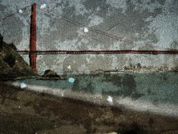 , 'Tent Camera Image on Ground- View of the Golden Gate Bridge From Kirby Cove,' 2012, Jackson Fine Art