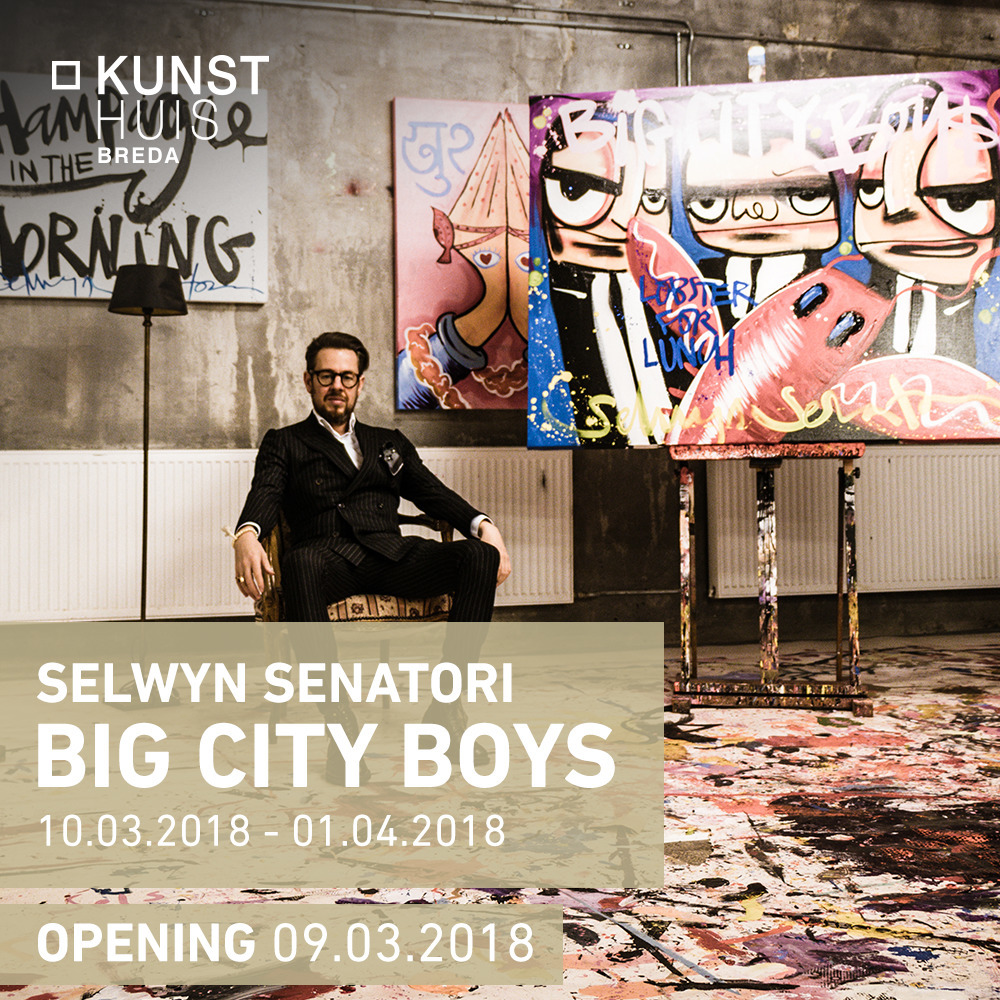 Selwyn Senatori - Big City Boys. Kunsthuis Amsterdam. Mar - Apr 2018