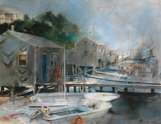 , 'Menemsha Harbor,' Active Contemporary, The Edgartown Art Gallery, Inc.