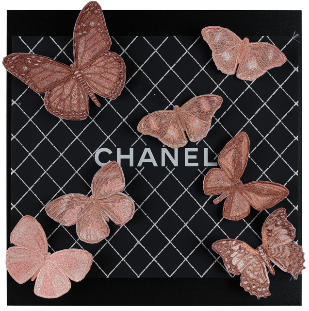 Stephen Wilson, 'Chanel Blush Butterflies', 2019, Parlor Gallery