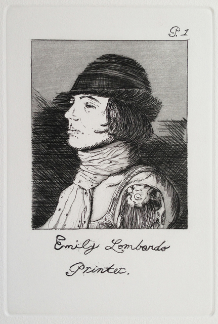 Emily Lombardo, 'Self Portrait, from the Caprichos', 2013, Print, Etching and aquatint, Childs Gallery