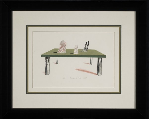 David Hockney, 'Glass Table With Objects 1969', 1969, David Lawrence Gallery