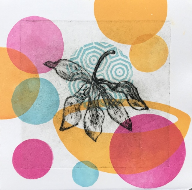Liz Parkinson, 'Garden Cycle, Orchideas #5, drypoint, relief print on Japanese washi', 2019, CMS Art Projects