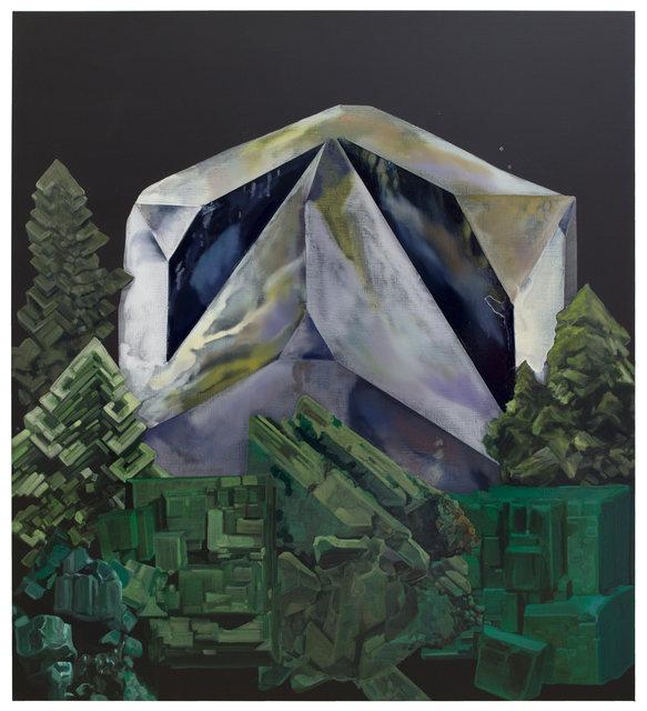 Guo Hongwei 郭鸿蔚, 'Petram Sefirot – Mount Athos 矿灵-圣山', 2019, Painting, Oil and acrylic on linen 亚麻布面油画及丙烯, Chambers Fine Art