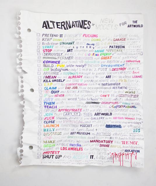 , 'Alternatives,' 2018, Gallery Poulsen