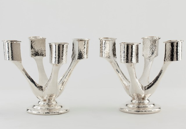 , 'Pair of Art Deco Candelabra,' , Fine Art Silver