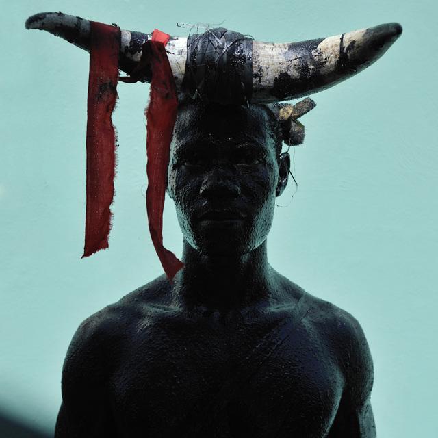 """, 'Céleur, """"Launcher of Rope,"""" Group Theodore Taondreau, Carnival in Jacmel,' 2013, L'agence à Paris"""