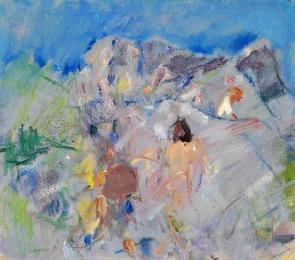 Figurer mellem klipper (Figures between rocks), Bornholm