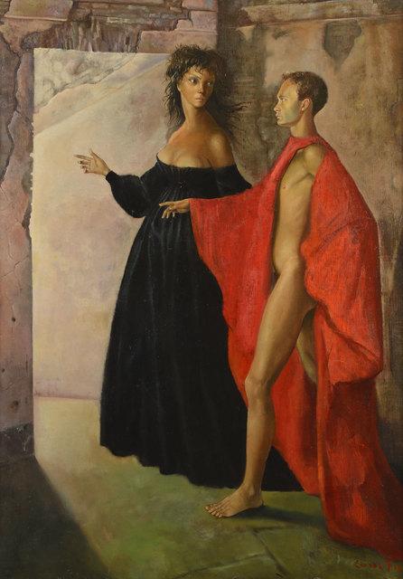 Leonor Fini, 'Dans la tour', 1952, Weinstein Gallery
