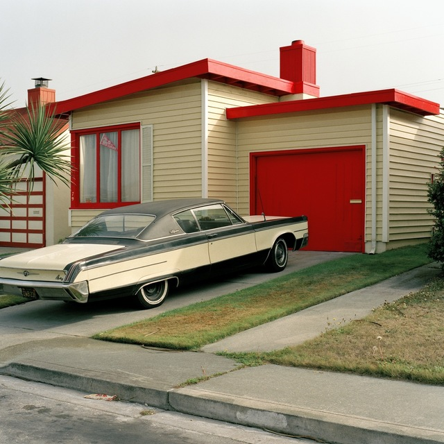 Jeff Brouws, 'Carmen Red, Daly City, California (Freshly Painted Houses) ', 1991, Robert Klein Gallery