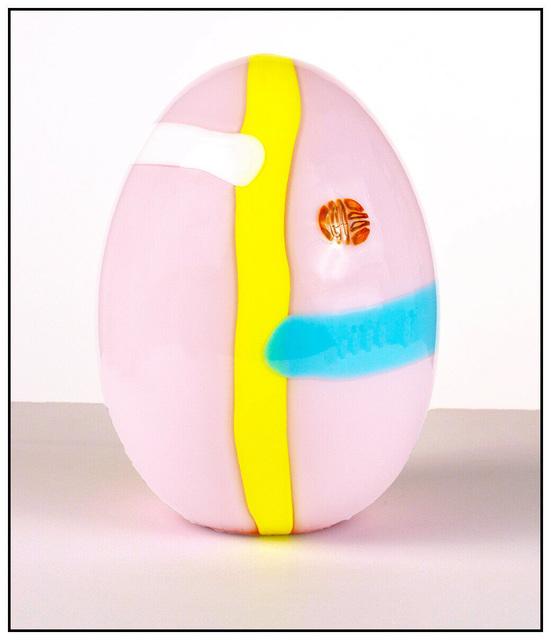 Lino Tagliapietra, 'Original Murano Glass Egg', 1984, Design/Decorative Art, Full Round Murrano Glass Egg Sculpture, Original Art Broker