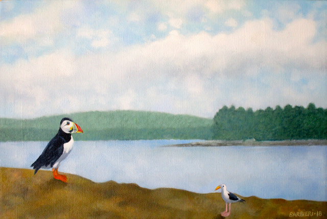 , 'Large Puffin at Home, Muscongus Bay,' 2018, Gallery NAGA