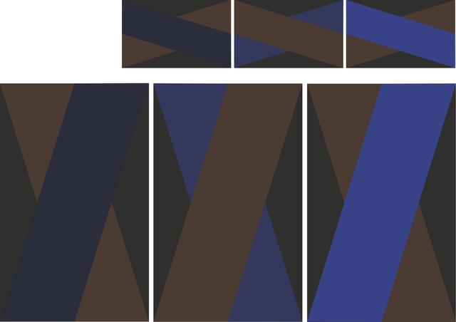 ", '""Basic1"" Rug Triptych,' 2014, Casati Gallery"