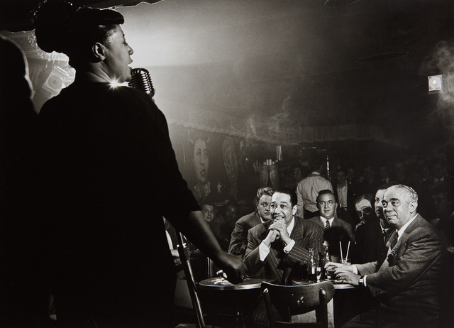 Herman Leonard, 'Ella Fitzgerald, Duke Ellington and Benny Goodman, NYC', 1948, Phillips
