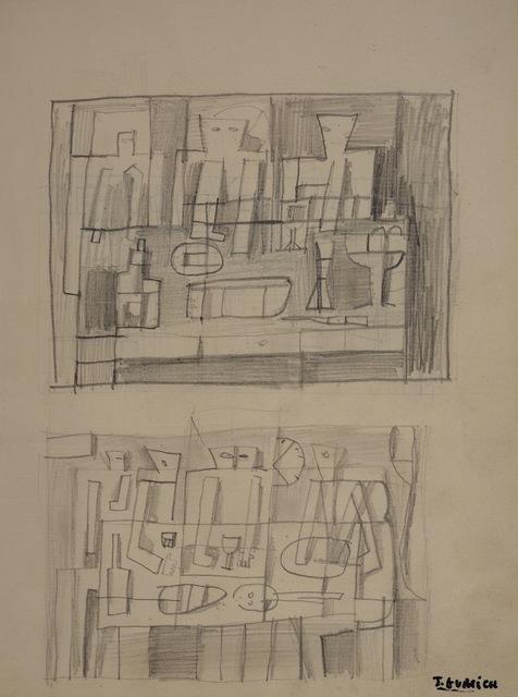 , 'Boceto para bodegón estructurado,' ca. 1960, Galería de las Misiones