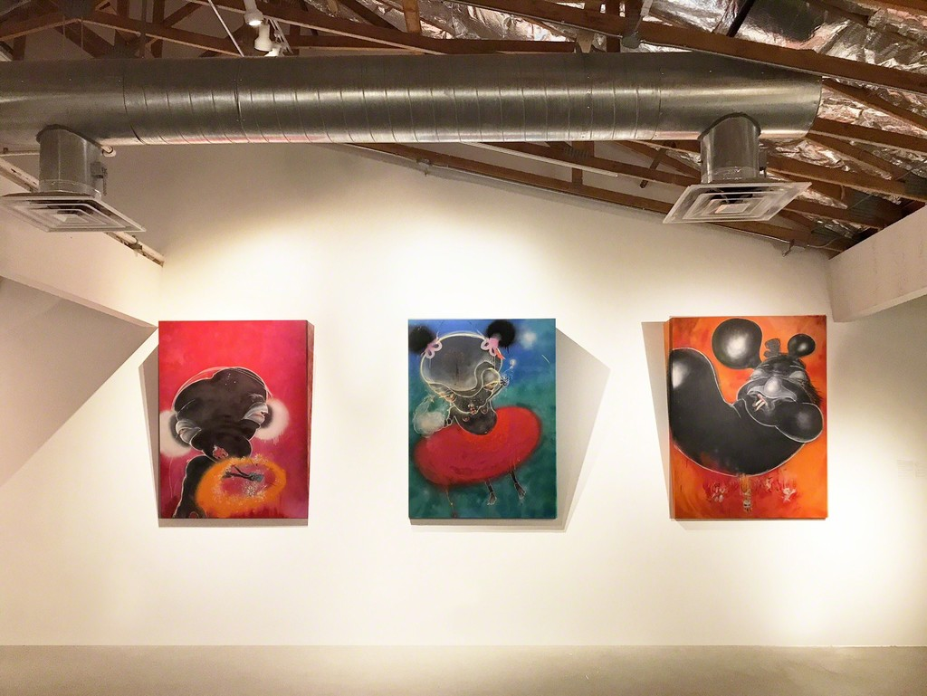 Pictured works by Sally French (left to right)