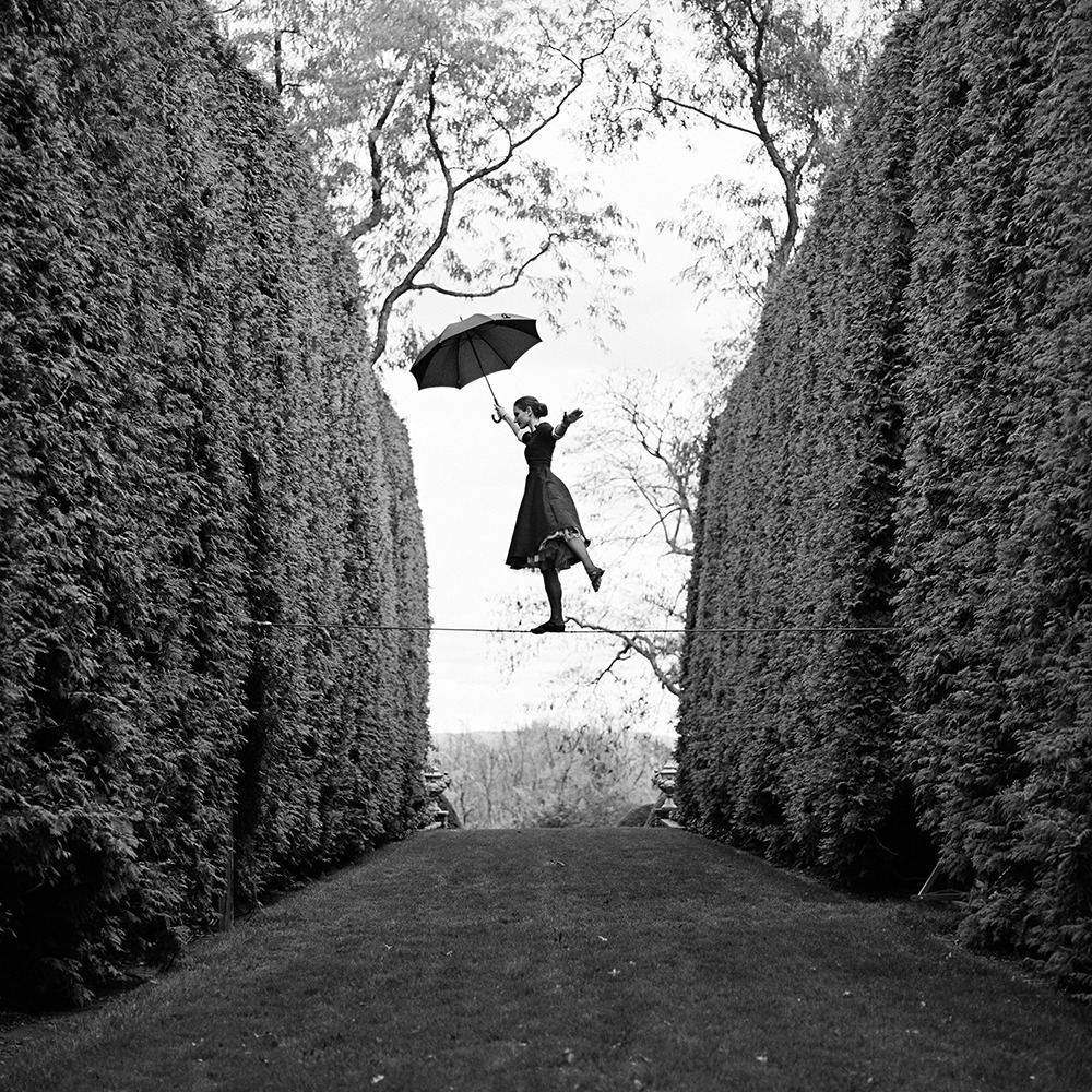 Rodney Smith, 'Kelsey Balancing on Tightrope