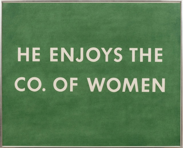 , 'He Enjoys The Co. of Women,' 1976, Gagosian
