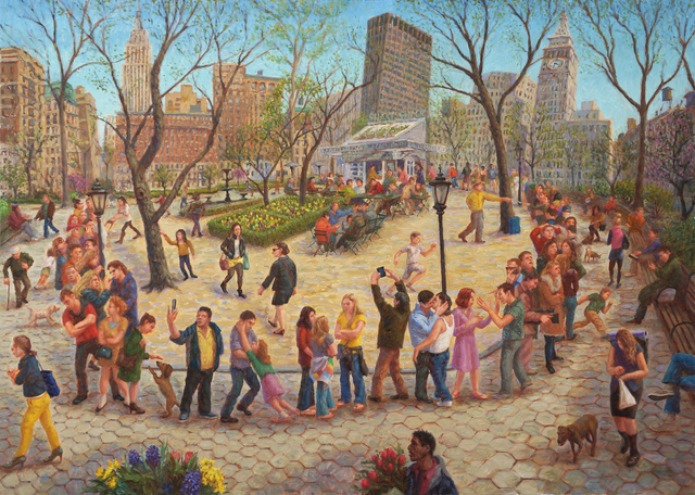 , 'Madison Square Park, Shake Shack Line,' 2014, 532 Gallery Thomas Jaeckel