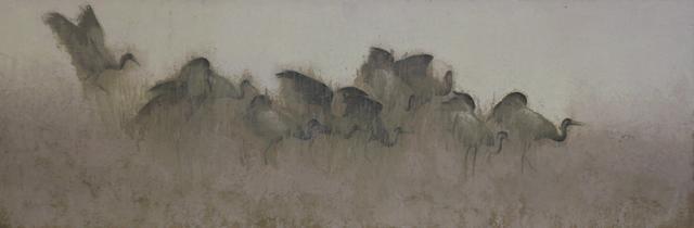 , 'birds | oil on canvas | 50x150cm,' 2017, Cep Gallery