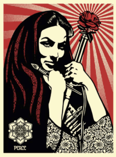 Shepard Fairey (OBEY), 'Revolutionary Woman with Brush', 2007, KP Projects
