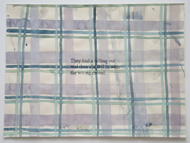 , 'Domestic Textiles Series, Falling Out,' 2018, frosch&portmann