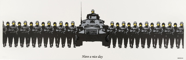 Banksy, 'Have a Nice Day (Anarchist Book Fair)', 2003, Print, Screenprint in colours, Forum Auctions