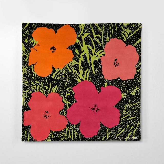 Andy Warhol, 'Flowers', 1980, Textile Arts, Hand Woven Wool Tapestry, Weng Contemporary