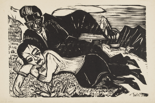 , 'Couple (Lovers),' 1921, Galerie St. Etienne