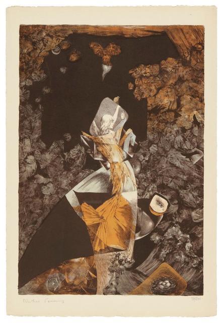 Dorothea Tanning, 'Bateau Bleu (Waddell-Ruby 5)', 1950, Hecho a Mano