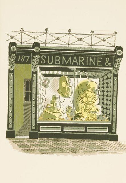 Eric Ravilious, ''SUBMARINE & DIVING'', c.1938, Sworders