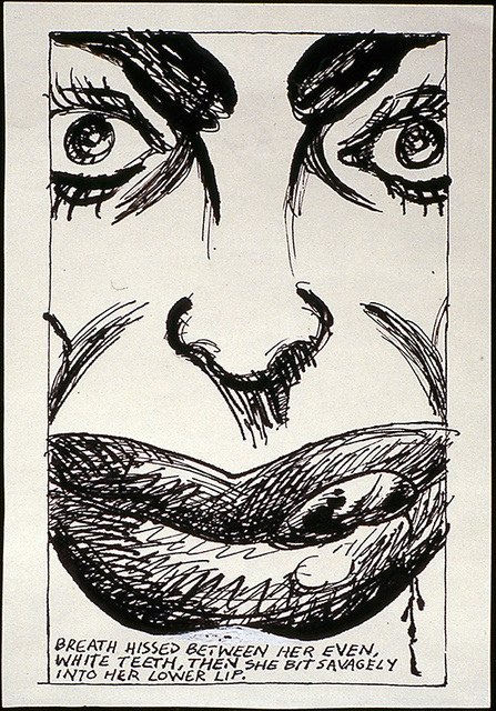Raymond Pettibon, 'No Title (Breath hissed between)', 1984, Sadie Coles HQ