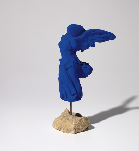 Yves Klein, 'La Victoire de Samothrace', Sculpture, Dry pigment and synthetic resin on plaster with metal rod on stone base, Phillips